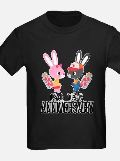 13th Anniversary Couple Bunnies T-Shirt