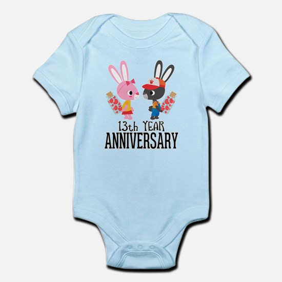 13th Anniversary Couple Bunnies Body Suit