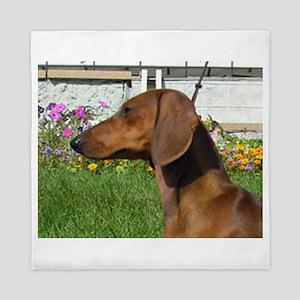 dachshund Queen Duvet