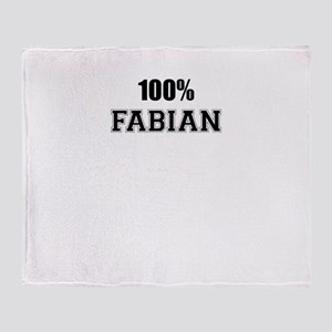 100% FABIAN Throw Blanket