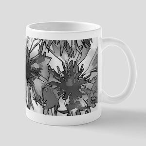 Cornflowers in Gray Mugs