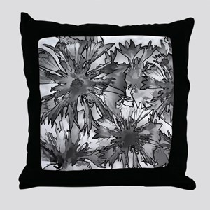 Cornflowers in Gray Throw Pillow