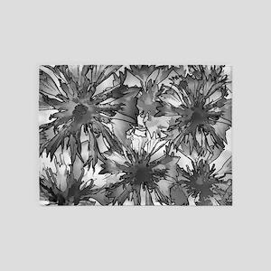 Cornflowers in Gray 5'x7'Area Rug