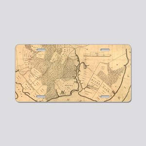 Vintage Map of The Mount Ve Aluminum License Plate