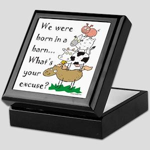 Born in a Barn Keepsake Box