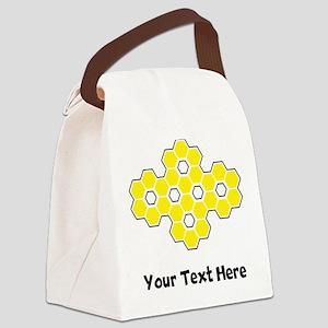 Bee Honeycomb (Custom) Canvas Lunch Bag