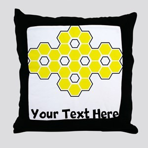 Bee Honeycomb (Custom) Throw Pillow