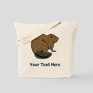Brown Beaver (Custom) Tote Bag