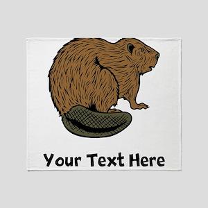 Brown Beaver (Custom) Throw Blanket