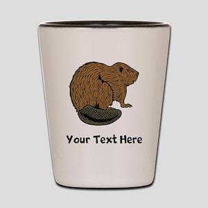 Brown Beaver (Custom) Shot Glass