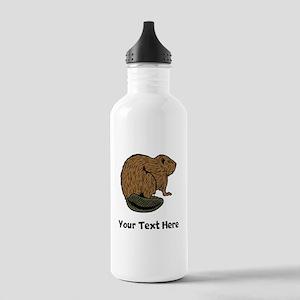 Brown Beaver (Custom) Water Bottle