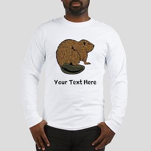 Brown Beaver (Custom) Long Sleeve T-Shirt