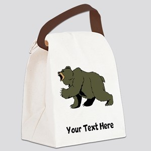 Grizzly Bear (Custom) Canvas Lunch Bag