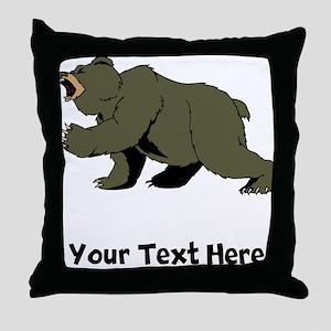 Grizzly Bear (Custom) Throw Pillow