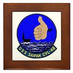 USS Saipan (CVL 48) Framed Tile
