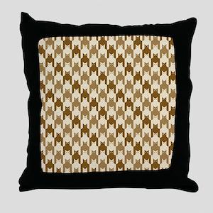 Catstooth Pattern in Neutrals Throw Pillow