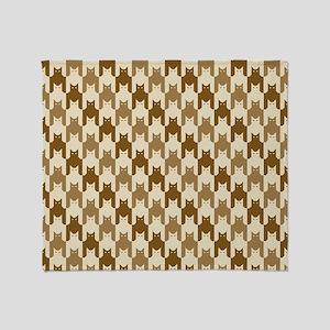 Catstooth Pattern in Neutrals Throw Blanket