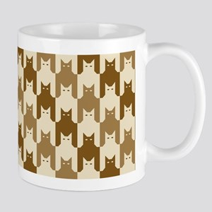 Catstooth Pattern in Neutrals Mugs