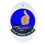 USS Saipan (CVL 48) Oval Ornament