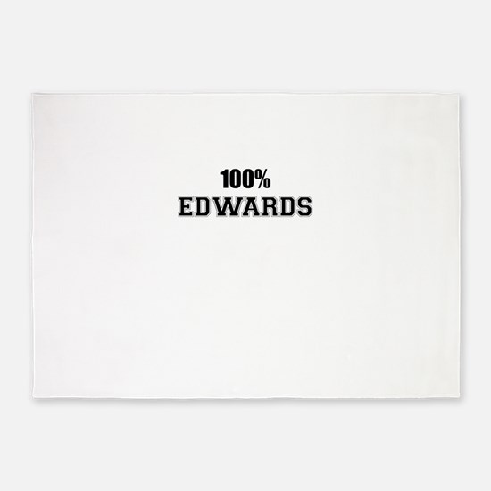 100% EDWARDS 5'x7'Area Rug