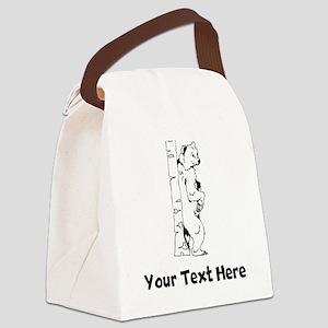 Bear Scratching Back (Custom) Canvas Lunch Bag