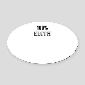 100% EDITH Oval Car Magnet