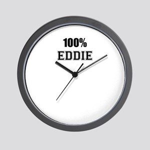 100% EDDIE Wall Clock