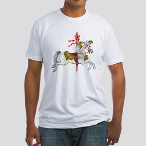 Carousel Horse Fitted T-Shirt