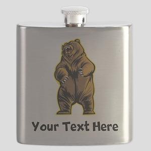 Grizzly Bear (Custom) Flask