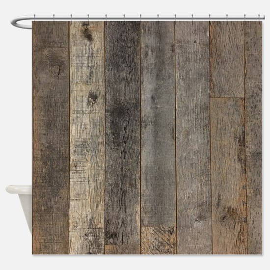 Funny Wooden plank Shower Curtain