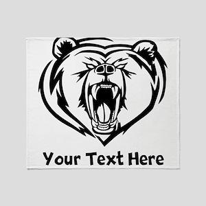 Grizzly Bear (Custom) Throw Blanket