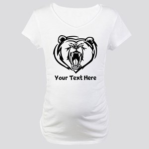 Grizzly Bear (Custom) Maternity T-Shirt