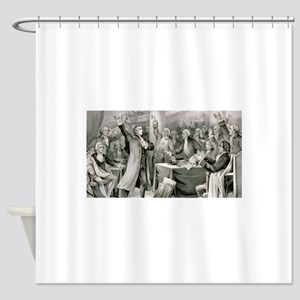 patrick henry Shower Curtain