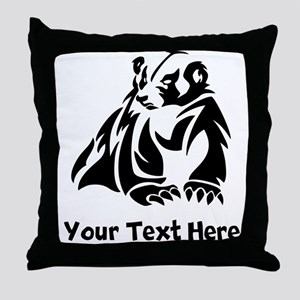Badger (Custom) Throw Pillow