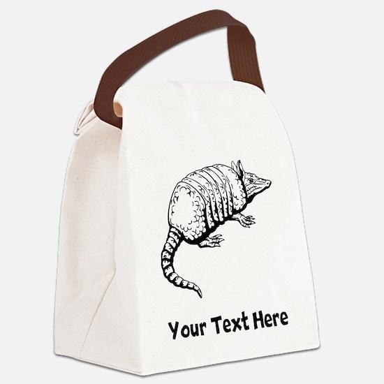 Armadillo (Custom) Canvas Lunch Bag
