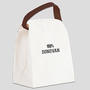 100% DONOVAN Canvas Lunch Bag