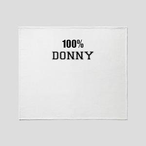 100% DONNY Throw Blanket