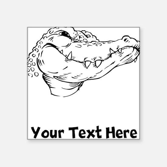 Crocodile Head (Custom) Sticker