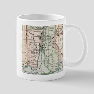 Vintage Map of Mobile Alabama (1891) Mugs