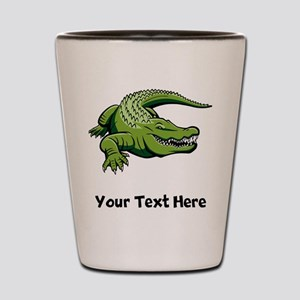 Green Alligator (Custom) Shot Glass