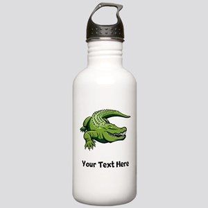 Green Alligator (Custom) Water Bottle