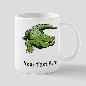 Green Alligator (Custom) Mugs