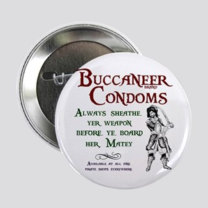 Buccaneer Brand Condoms Button