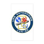 USS Enterprise (CVN 65) Rectangle Sticker