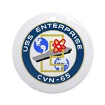 USS Enterprise (CVN 65) Ornament (Round)