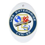 USS Enterprise (CVN 65) Oval Ornament