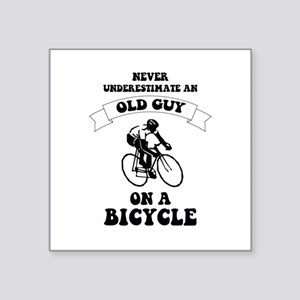 Never underestimate an old guy on a bicycl Sticker 410b77bb5