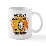 Firefighter Skull and Flames Mug