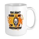 Firefighter Skull and Flames Large Mug