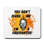 Firefighter Skull and Flames Mousepad